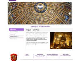 nº 42 pour Responsive webpage design for an exsiting layout (romain catholic church) par SuciuBogdan