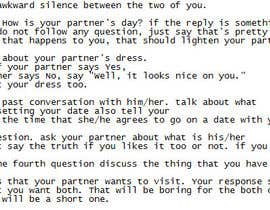 "#2 untuk Write an article about ""Top 6 first date conversation starters"" oleh kreautzner"