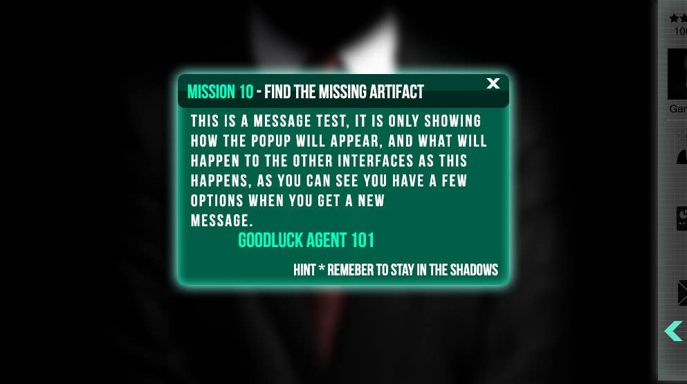 """#6 for Design a mockup of web-based game with a """"secret agent"""" theme by joka232"""