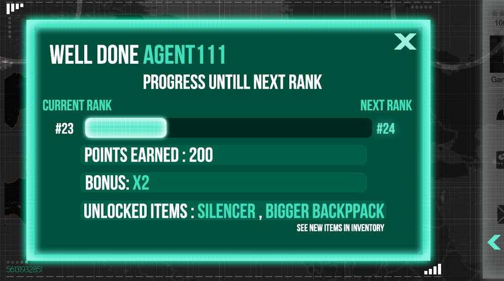 """#8 for Design a mockup of web-based game with a """"secret agent"""" theme by joka232"""
