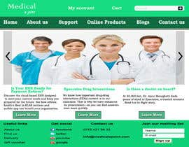 #25 para Design a Website Mockup for Medical E Joint por oliullah79