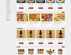 nikil02an tarafından Design a online Grocery store homepage için no 6