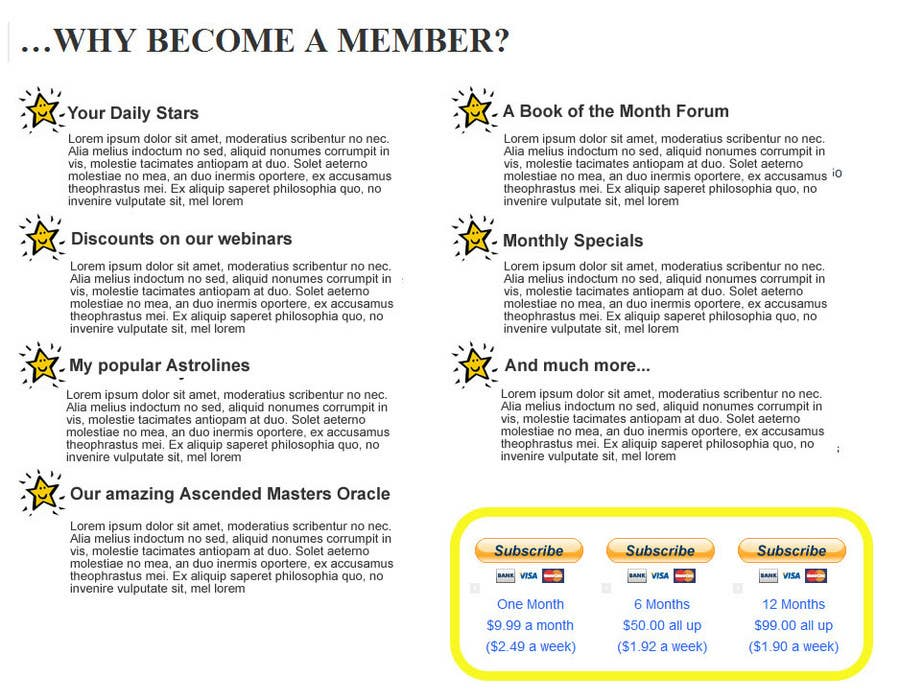 Contest Entry #                                        18                                      for                                         Graphic Design for A new Membership Area for www.moonology.com
