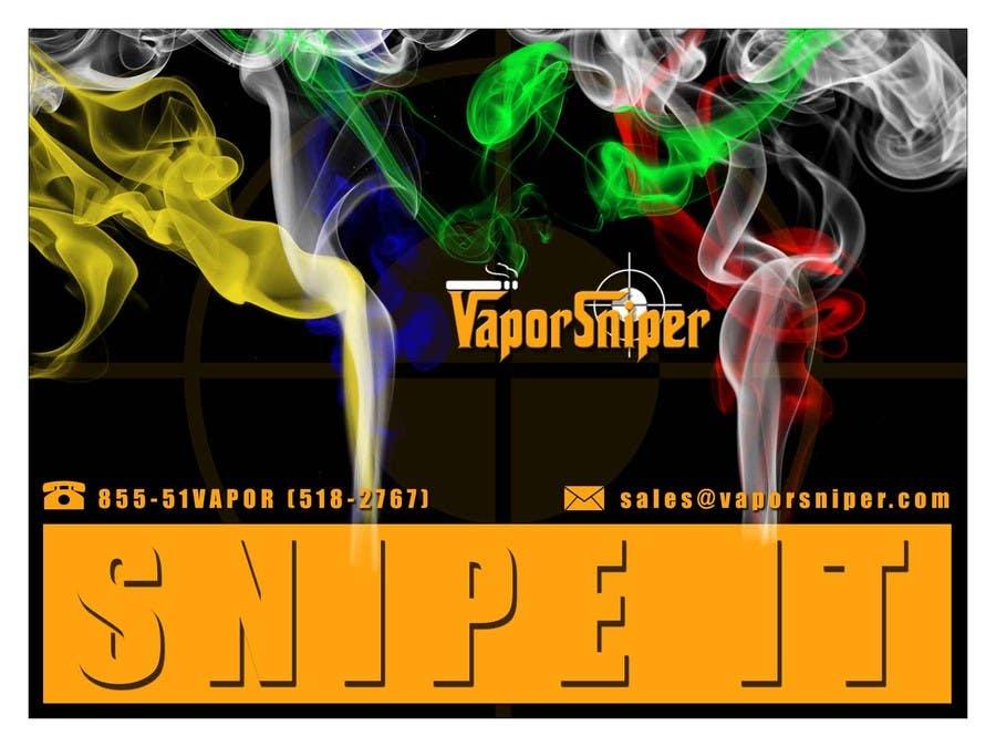 #11 for Design A Postcard for Vapor Sniper Wholesale Program, by arturw