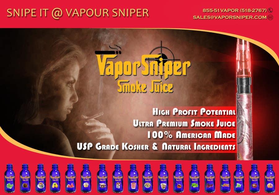 #21 for Design A Postcard for Vapor Sniper Wholesale Program, by dhonivenkat
