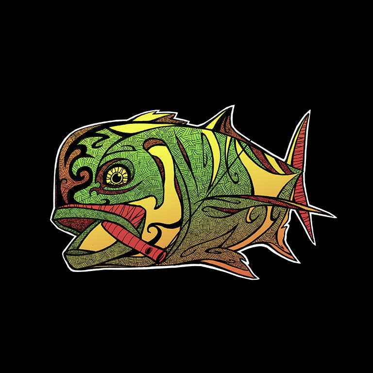 Kilpailutyö #36 kilpailussa T-shirt design for Trevally Fish