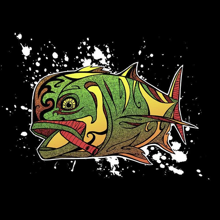 Kilpailutyö #37 kilpailussa T-shirt design for Trevally Fish