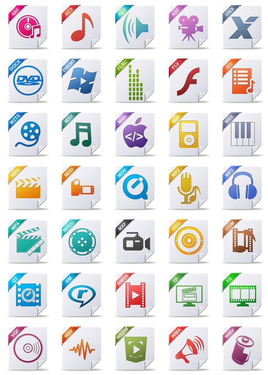 #39 for Design modern icons for media file types by AndryF