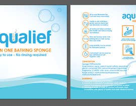 Pahiramako2 tarafından Create  Packaging Design for aqualief all in one bathing sponge için no 39