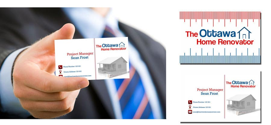 #49 for Design some Business Cards for The Ottawa Home Renovator by rvedran