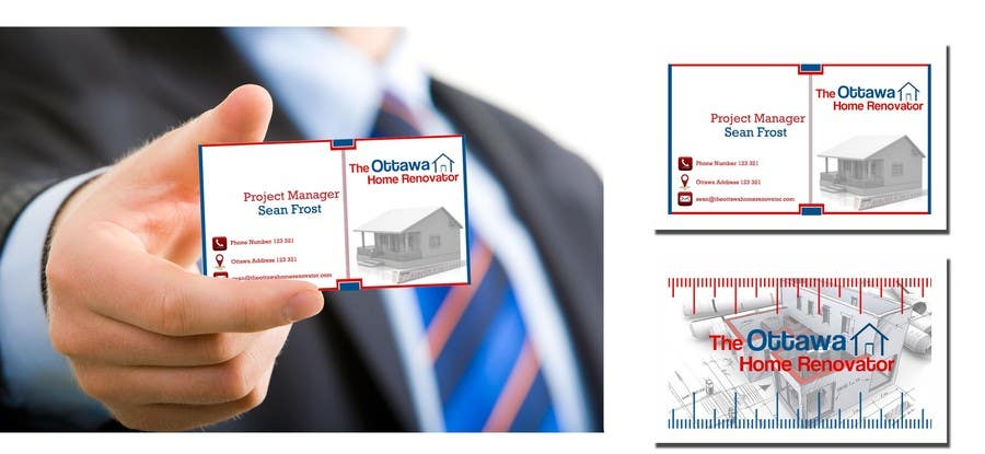 #52 for Design some Business Cards for The Ottawa Home Renovator by rvedran