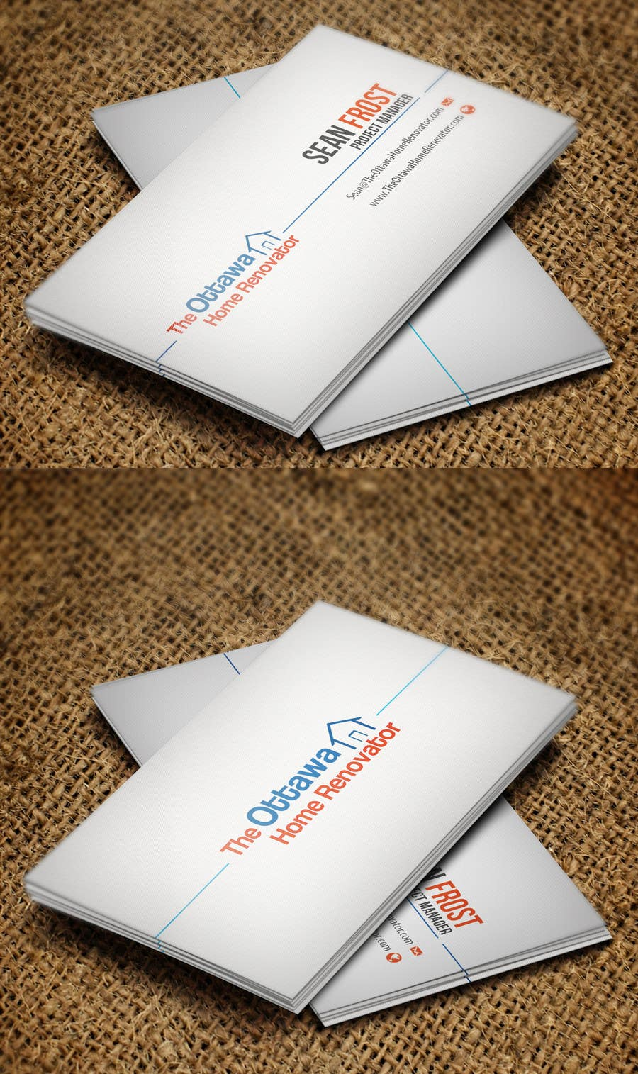 #31 for Design some Business Cards for The Ottawa Home Renovator by Zeshu2011