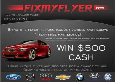 #7 for Design a Flyer for Local Car Dealership by TATHAE