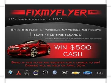 #15 for Design a Flyer for Local Car Dealership by TATHAE