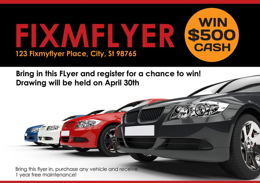 #20 for Design a Flyer for Local Car Dealership by Sahir75