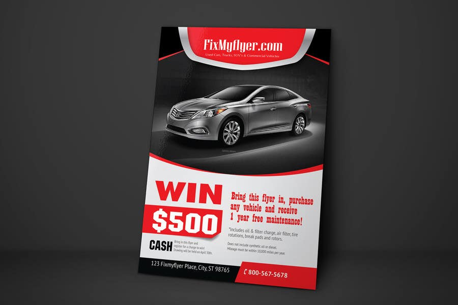 #35 for Design a Flyer for Local Car Dealership by tahira11