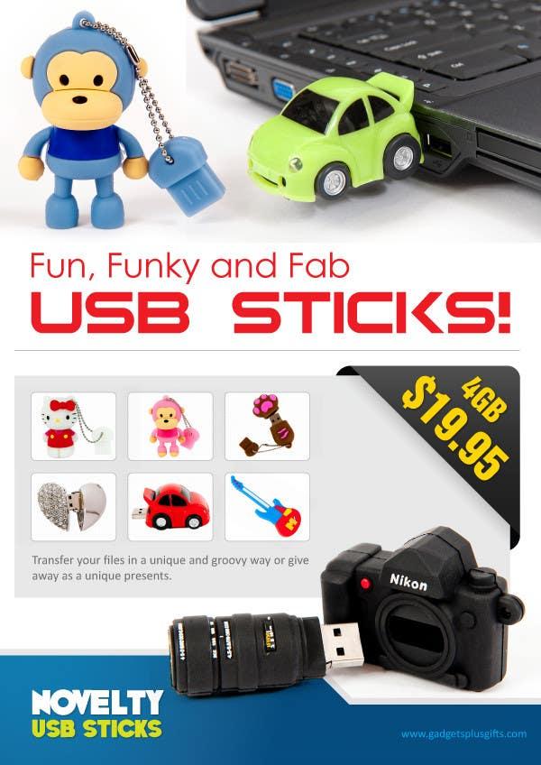 Penyertaan Peraduan #8 untuk Simple and fun poster required for unique gadgets