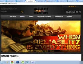 #37 untuk I Need a Main Image Designed for the Homepage of my Firearms Retail Website oleh clementalwin