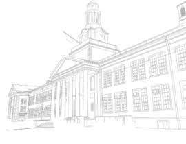 reginajessica96 tarafından Draw Colored Sketch The College of New Jersey Green Hall For Diploma Frame için no 13