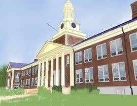 reginajessica96 tarafından Draw Colored Sketch The College of New Jersey Green Hall For Diploma Frame için no 20
