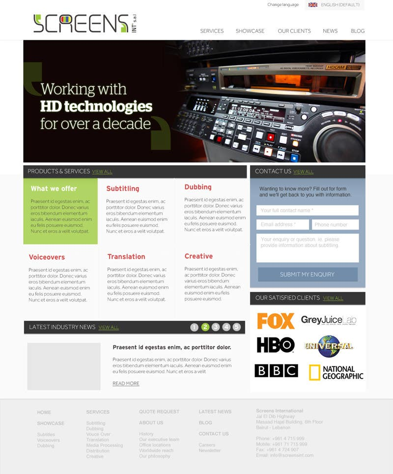 #102 for Design a Website Mockup for our Company by josephvaldez