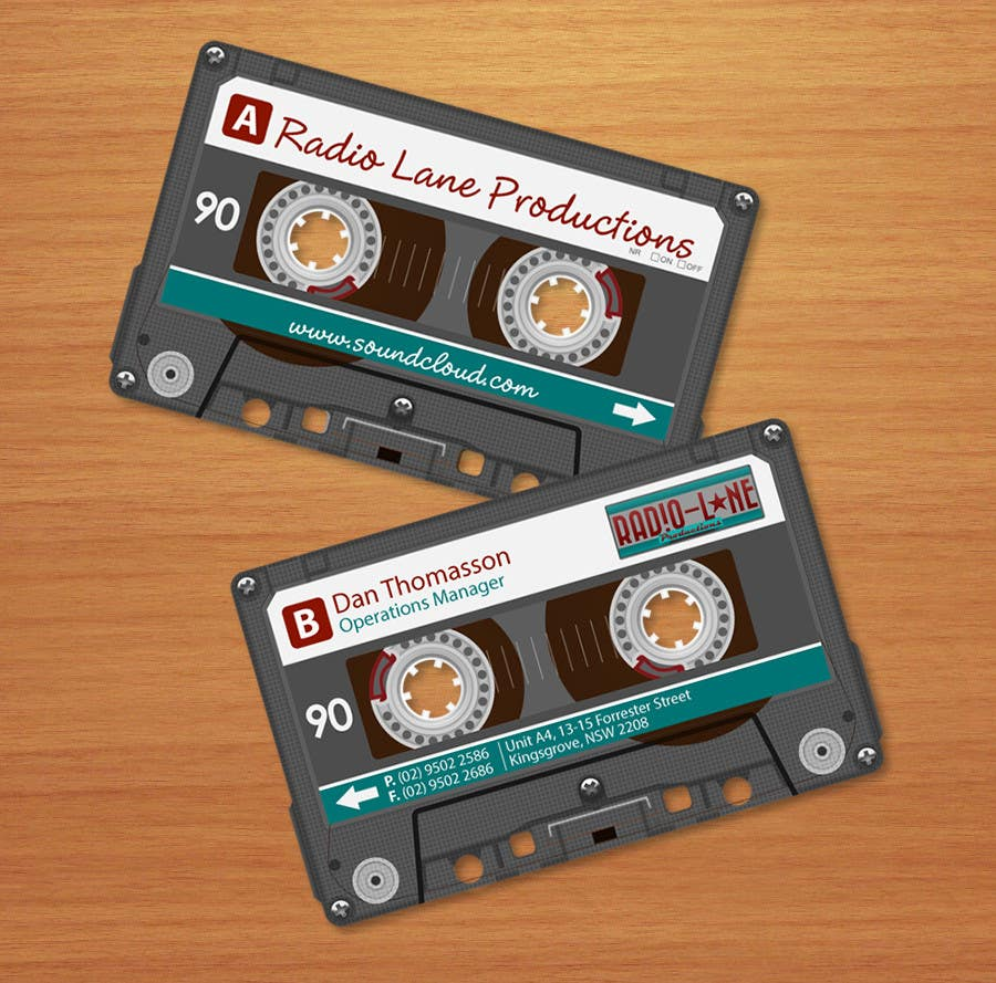 #6 for Design Business Cards for Radio Lane Productions by midget
