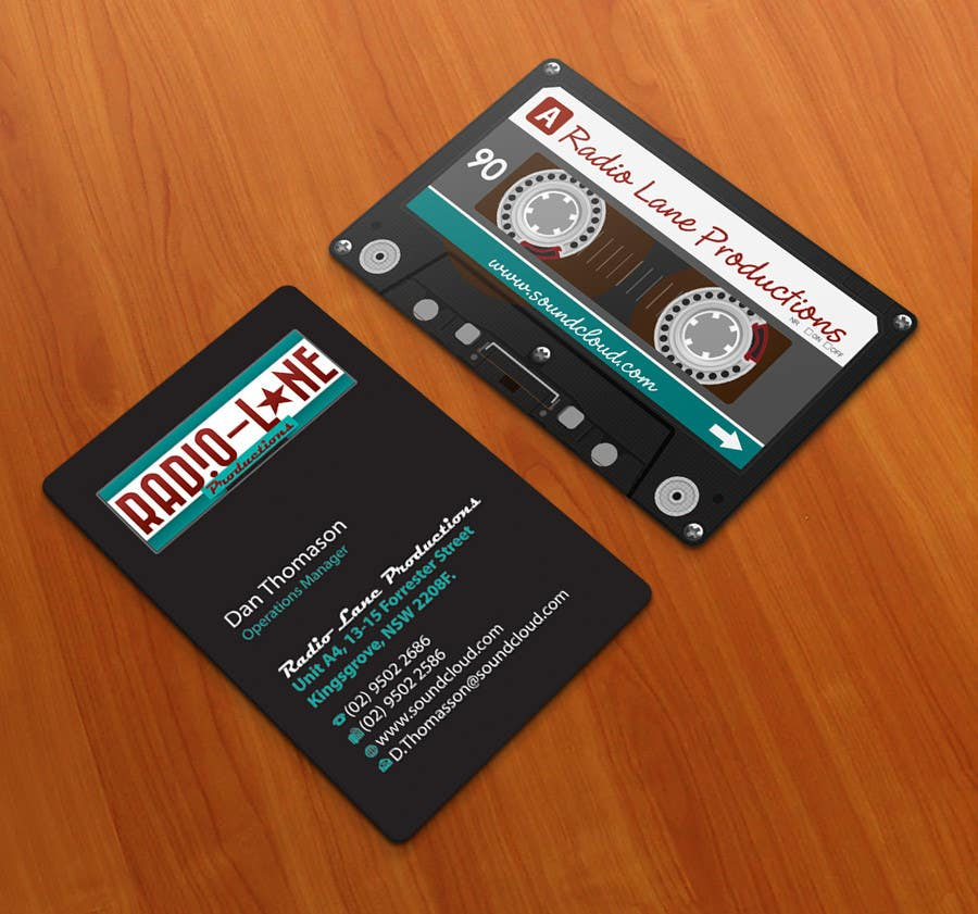 #17 for Design Business Cards for Radio Lane Productions by midget
