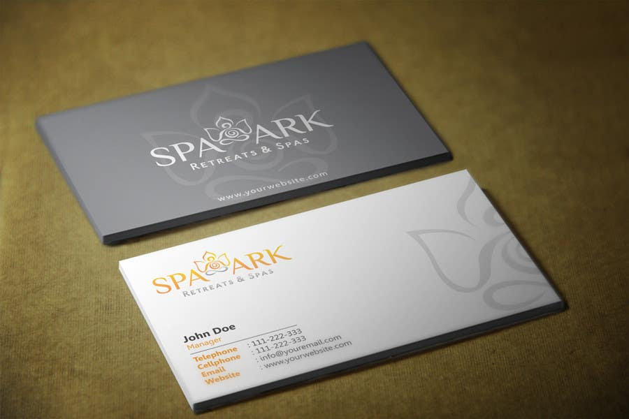 #63 for Design some Business Cards for Spa and Retreat Travel Agency by HammyHS