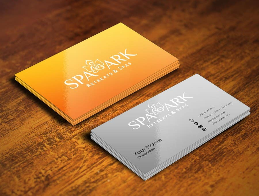 #16 for Design some Business Cards for Spa and Retreat Travel Agency by pointlesspixels