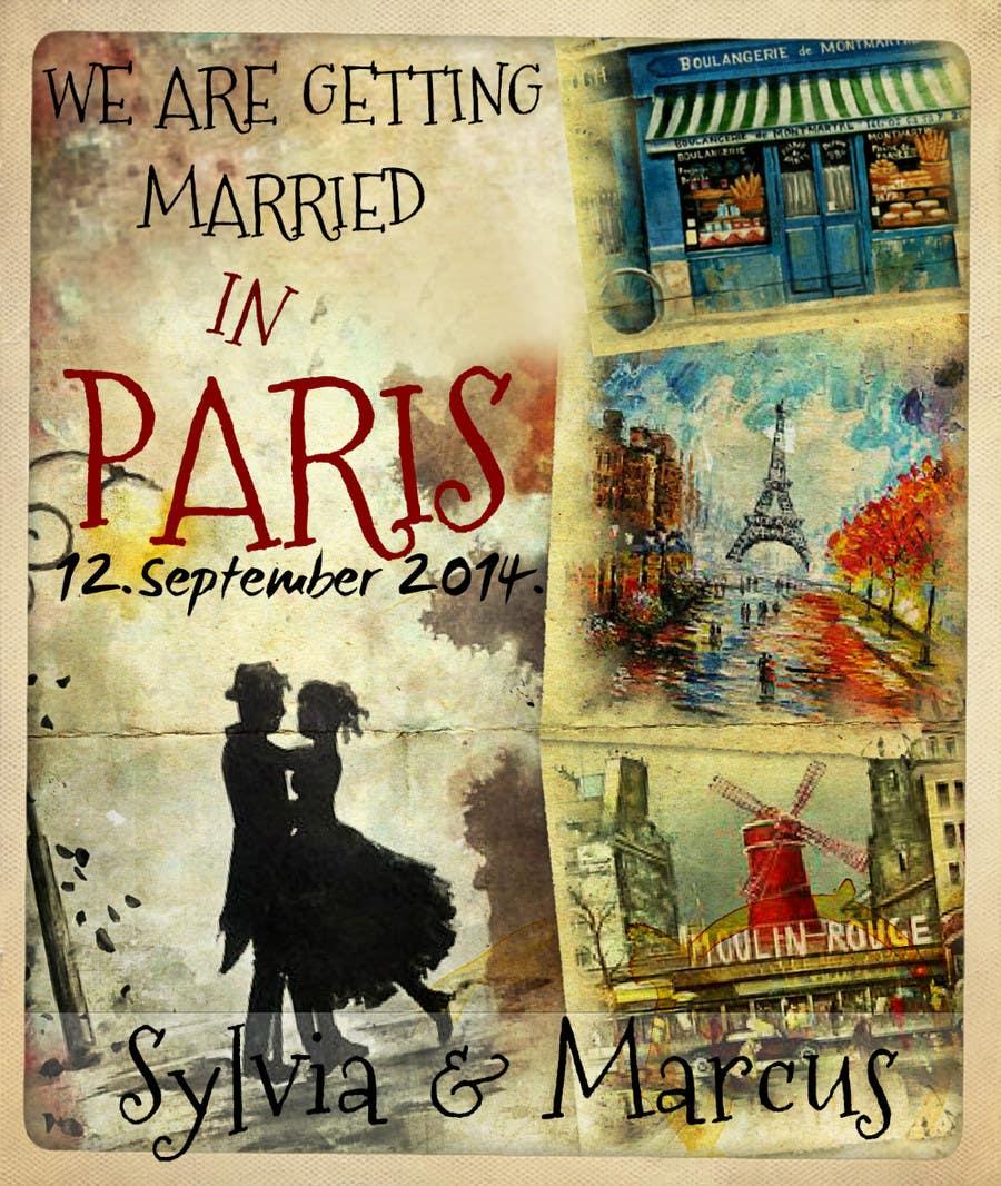 Konkurrenceindlæg #31 for Design a Poster/Invitation for a Wedding Ceremony