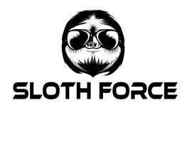 lucianoluci657 tarafından [Game Studio Logo] Sloth with aviator sunglasses with SLOTH FORCE written below için no 7
