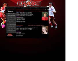 nº 4 pour Design a Webpage Mockup for 1 page of our Youth Soccer Website par mamatag