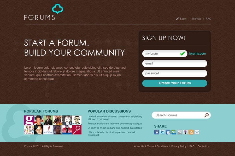 ผลงานการประกวด #27 สำหรับ Website Design for Forums.com