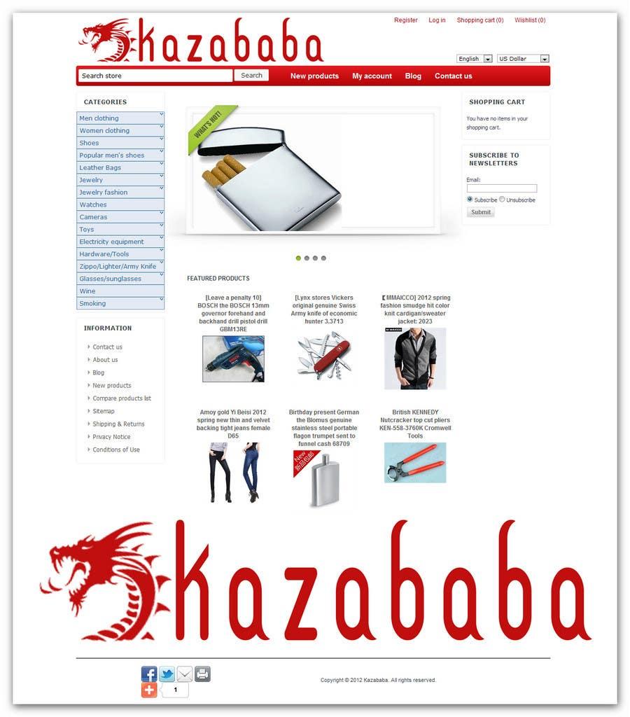 Konkurrenceindlæg #                                        107                                      for                                         Logo Design for kazababa