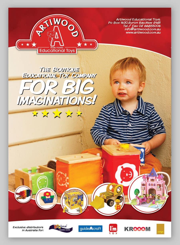 Inscrição nº                                         33                                      do Concurso para                                         Advertisement Design for Artiwood Educational Toys (A4)