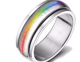 #21 for Create a Rainbow EKG/wave Spinner Ring by kosevech