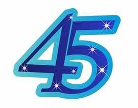 #10 untuk Logo design for the 45th anniversary banquet oleh alexnutu