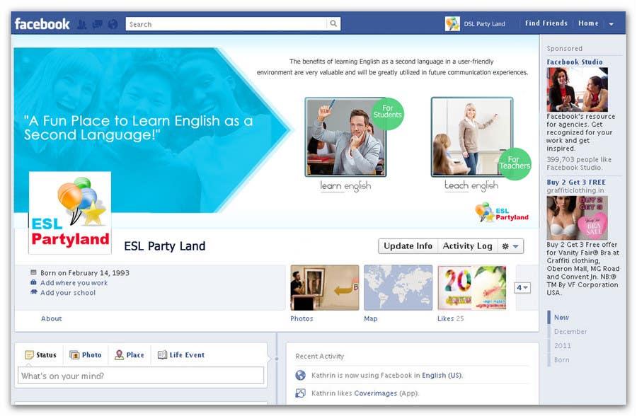 Bài tham dự cuộc thi #17 cho Social Graphic Design for ESLPartyLand.Com