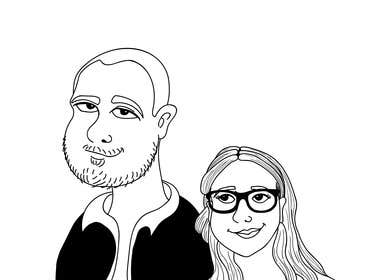 BigBangPro tarafından Cartoonize Two Faces (B/W, Vector Graphic, Low Detail) için no 15