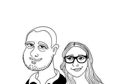 BigBangPro tarafından Cartoonize Two Faces (B/W, Vector Graphic, Low Detail) için no 25