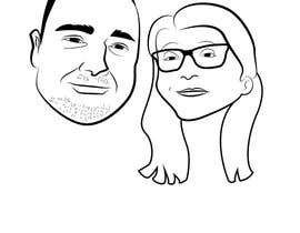 #11 for Cartoonize Two Faces (B/W, Vector Graphic, Low Detail) by reginajessica96