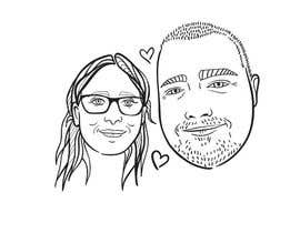 #18 for Cartoonize Two Faces (B/W, Vector Graphic, Low Detail) by dinozema
