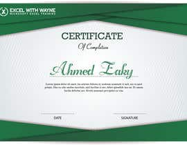 Ahmed1Zaky tarafından I need some Graphic Design for a certificate için no 1