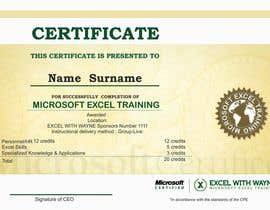 caglaeger tarafından I need some Graphic Design for a certificate için no 9