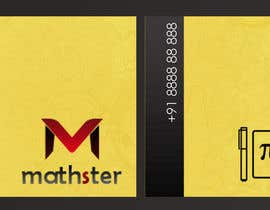 #4 untuk Design some Business Cards for Mathster.com oleh ARUNVGOPAL