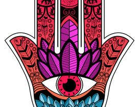 #12 for Fatime Hand Design for Case & Shirt by Bateriacrist