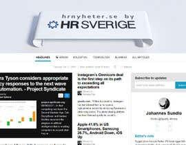 Nro 13 kilpailuun Designa en banner for hrnyheter.se käyttäjältä Cobot
