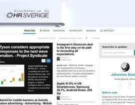 Nro 37 kilpailuun Designa en banner for hrnyheter.se käyttäjältä Cobot