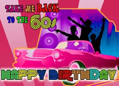 Image of                             Design a Banner - 60's Theme Hap...
