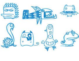 nº 22 pour Funny Monster Robot Illustrations Wanted par clagot